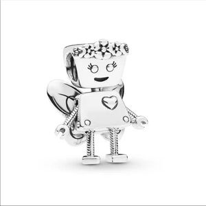 925 Sterling Silver Fairy Robot Charm Bead DIY